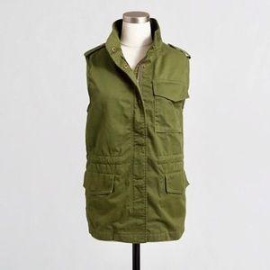 euc jcrew utility sherpa lined vest c8601